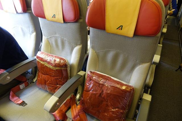 アリタリア航空の座席