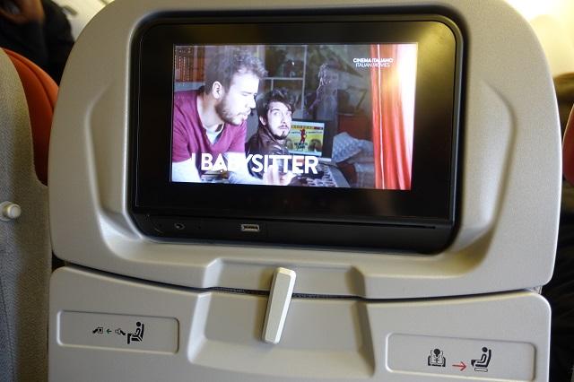 アリタリア航空の機内の映画