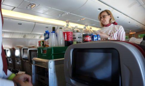 アリタリア航空の機内サービス