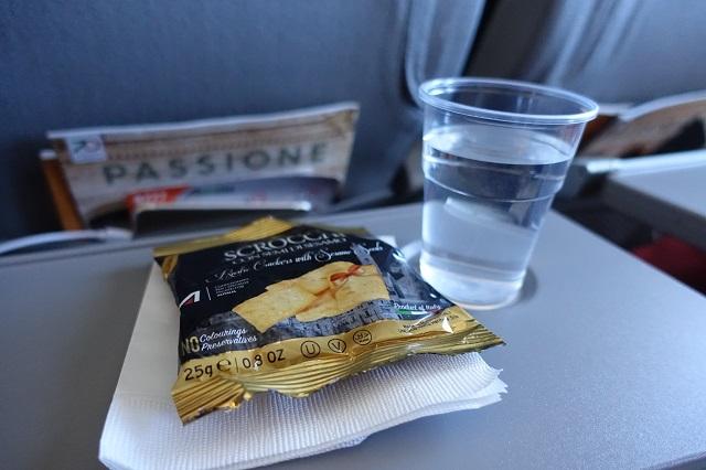 アリタリア航空の軽食