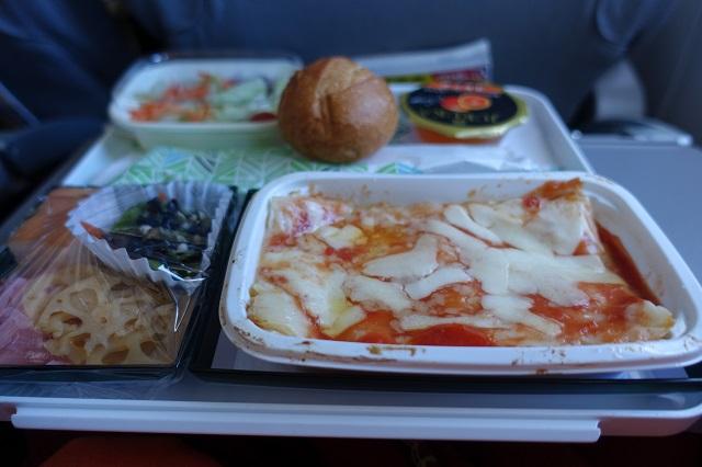アリタリア航空の機内食
