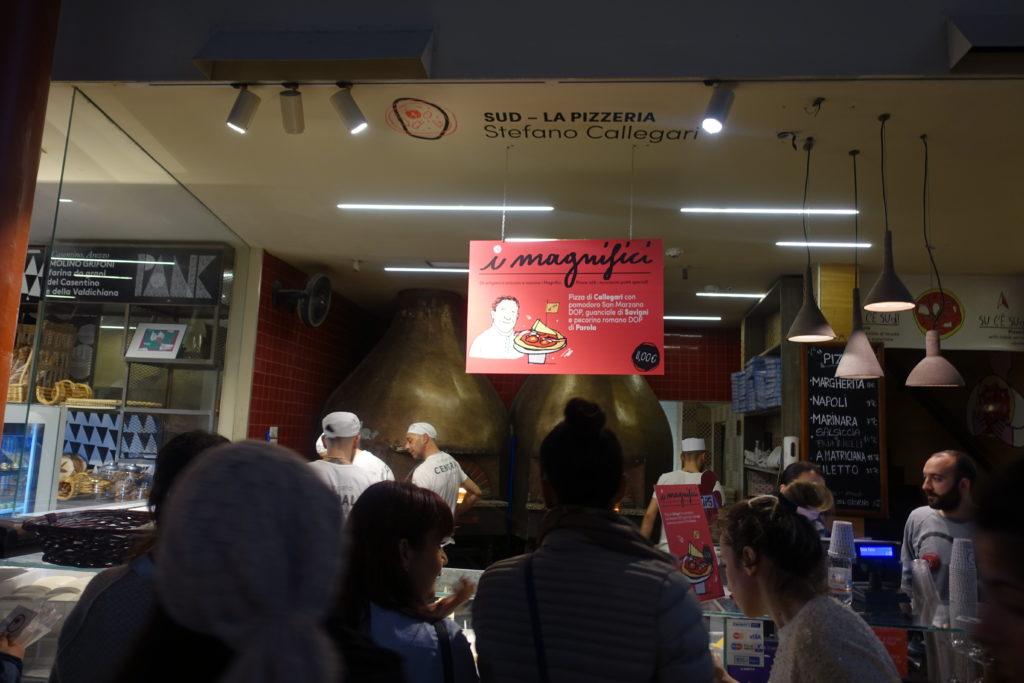 フィレンツェ中央市場のピザ屋