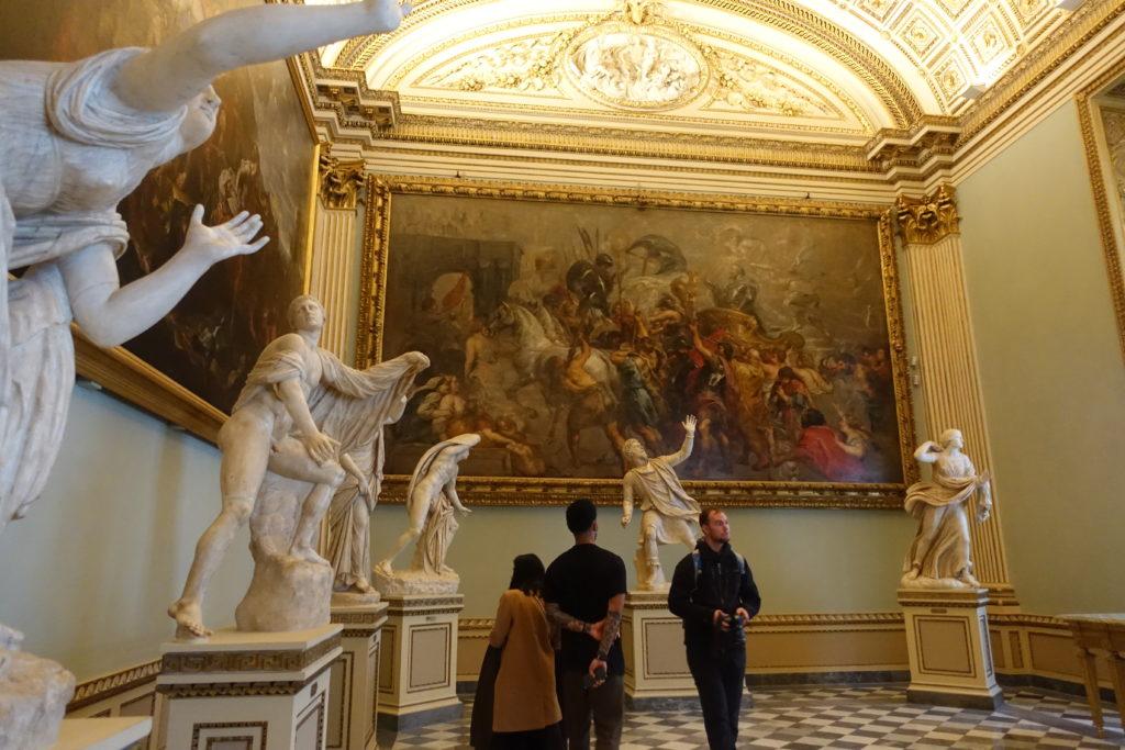 フィレンツェ・ウフィッツィ美術館の彫刻