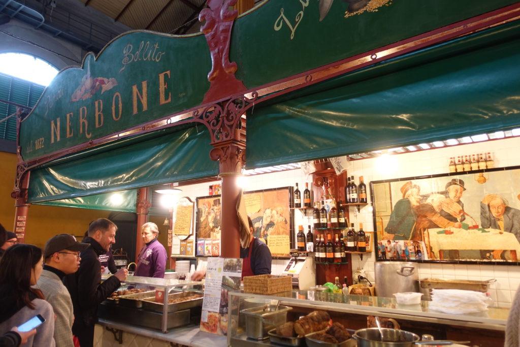 フィレンツェ中央市場NERBONEの外観