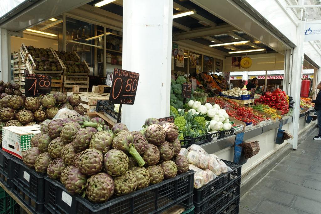 イタリアの野菜市場