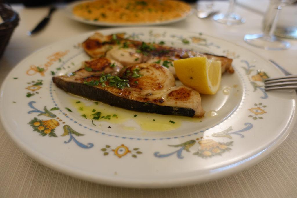 ローマのレストランでおすすめカジキ料理