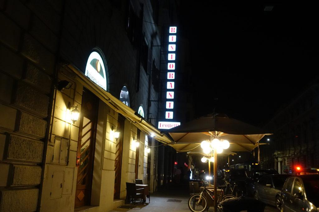 ローマのテルミニ駅近くのレストラン
