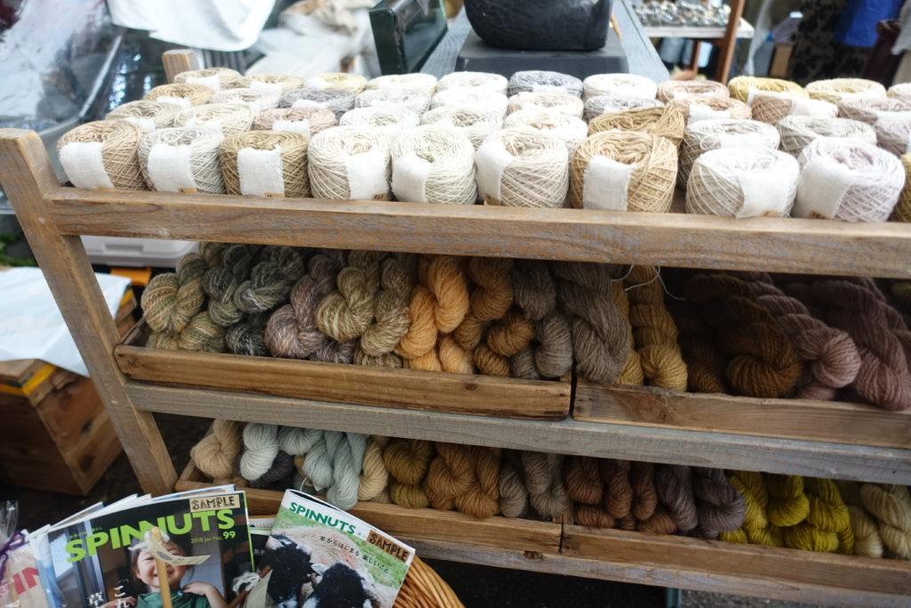 護国神社 蚤の市で販売されている糸