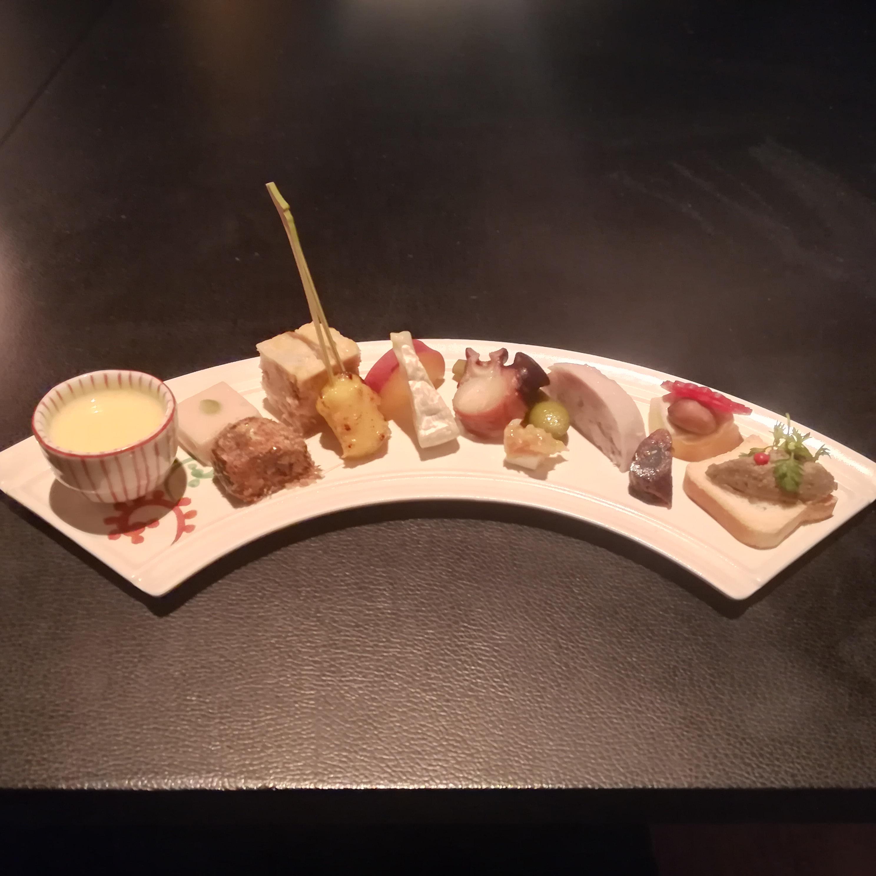 福岡の新日本料理「Assiette de MAKO(アシェット・ド・マコ)」の料理