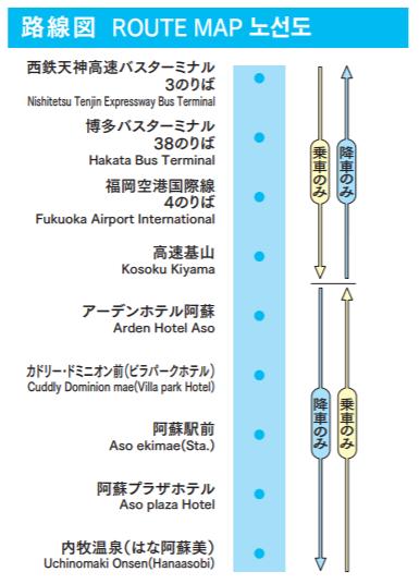 ASOエクスプレスの運行ルート