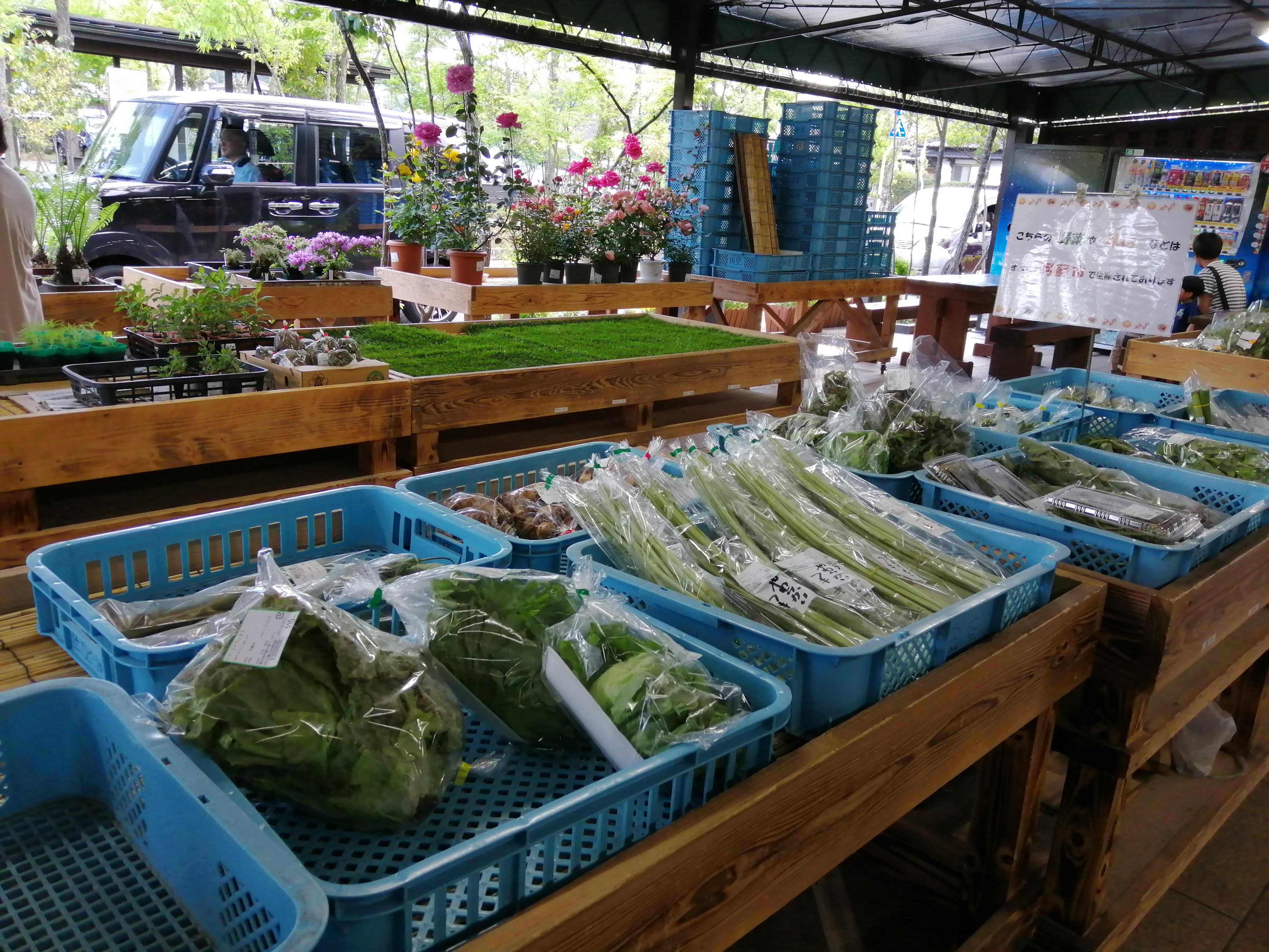 「道の駅 阿蘇」の果物・野菜売り場