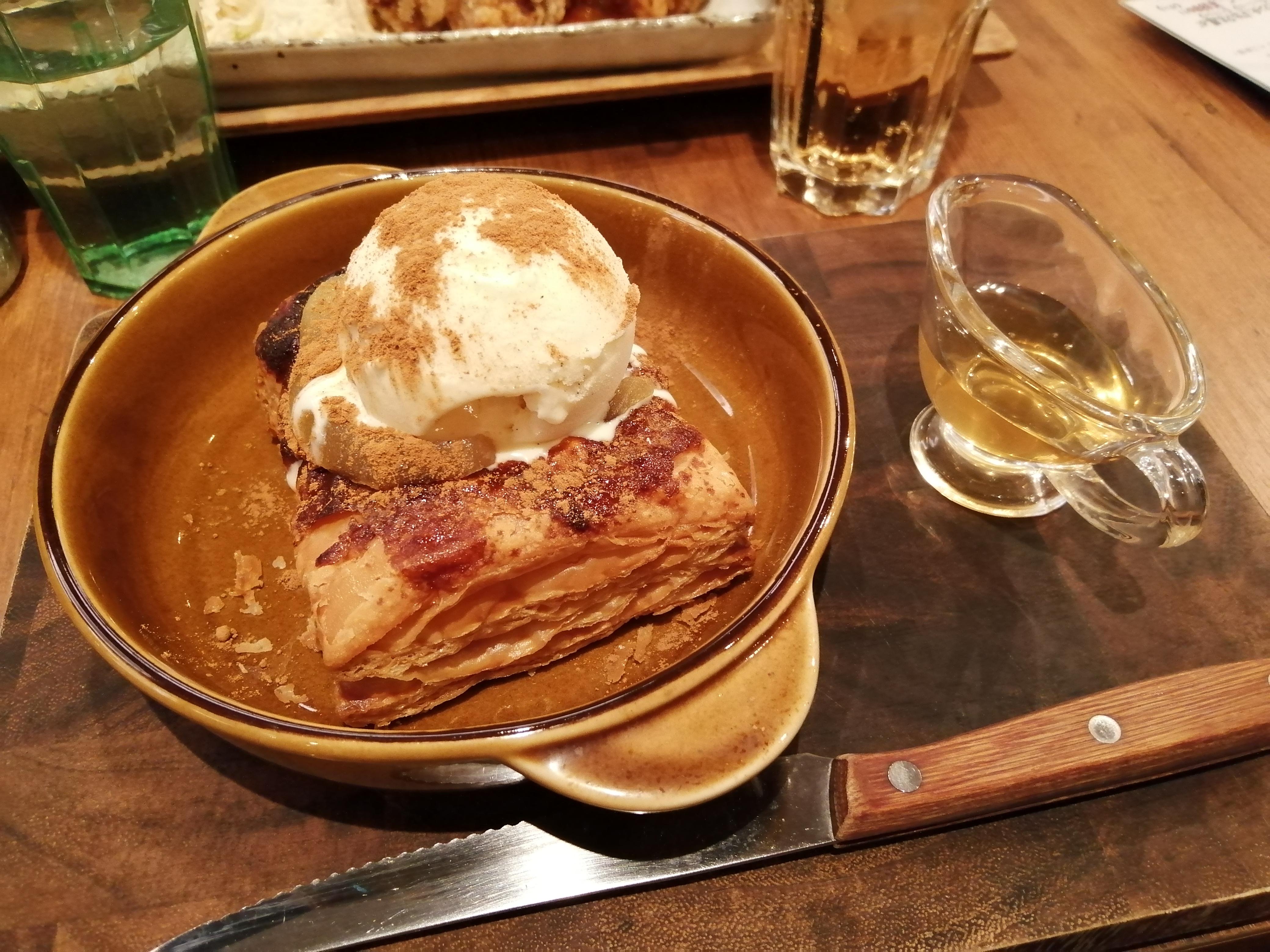 「#602 CAFE&DINER(ロクマルニ カフェ&ダイナー)」のアップルパイ